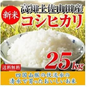 新米 お米 25kg 高知県産コシヒカリ (5kg×5袋) 令和元年産 送料無料
