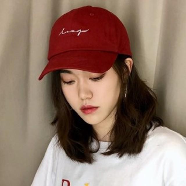 英字ロゴ キャップ 帽子 野球帽 ユニセックス