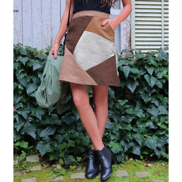 【セール開催中】ANAP(アナップ)パッチワーク台形スカート