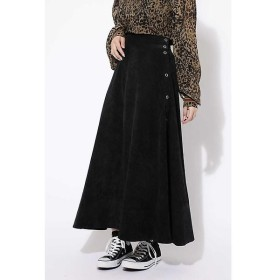 ROSE BUD / ローズ バッド サイドボタンフレアロングスカート