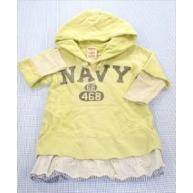 3a31589bf1d60 デニムアンドダンガリー DENIM   DUNGAREE ワンピース パーカー 90cm 黄色系 キッズ トップス 女の子 子供服