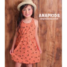 【セール開催中】ANAP KIDS(キッズ)ヤシ柄スラブキャミワンピース