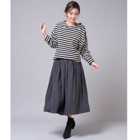 un dix cors / アンディコール 割繊ギャザースカート