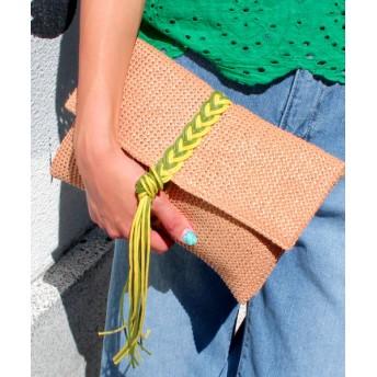 【セール開催中】ANAP(アナップ)編み紐デザインクラッチバッグ