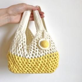 かぎ針編み_ランチバッグ_二色選べる