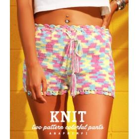 【セール開催中】ANAP(アナップ)カラフルかぎ編みショートパンツ