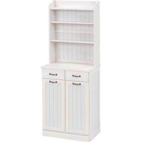 ダストボックス 木製おしゃれゴミ箱 2分別 25Lペール2個付き 白(ホワイト)〔代引不可〕【配達日時指定不可】