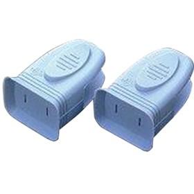 スマイルキッズ にぎりやすい安全プラグカバー ブルー AKN-08BL (2コ入)