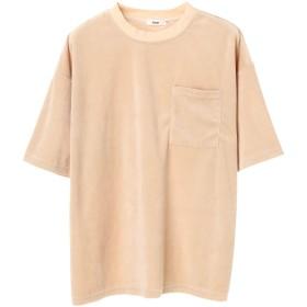 【6,000円(税込)以上のお買物で全国送料無料。】mens ベロアワイドTシャツ