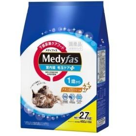 メディファス 室内猫 毛玉ケアプラス 1歳から チキン&フィッシュ味 ( 450g6袋 )/ メディファス