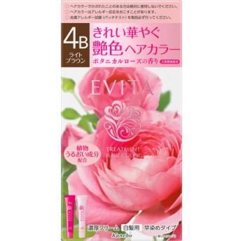 エビータ トリートメントヘアカラー4B ライトブラウン(医薬部外品) (45g+45g)