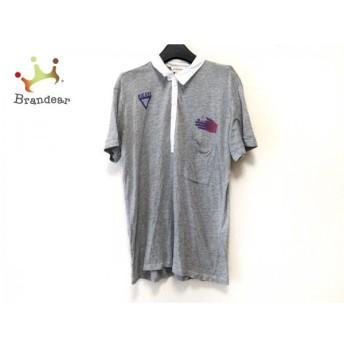 ディーゼル DIESEL 半袖ポロシャツ サイズL レディース ライトグレー×白×マルチ 新着 20190710