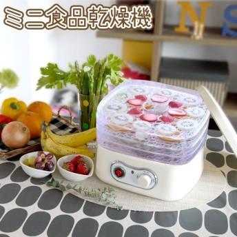 ミニ食品乾燥機 フードデハイドレーター ドライフルーツ ドライフードメーカー 乾燥フルーツ 乾燥野菜 食品乾燥機 BY1152-1 代引不可