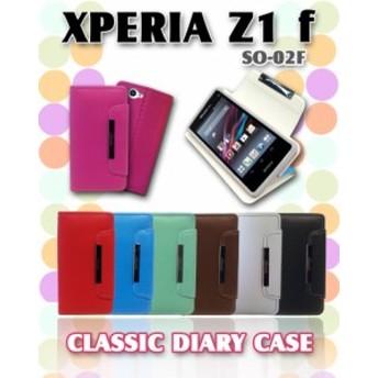 docomo XPERIA Z1 f SO-02F ケース/カバー パステル手帳ケース classic エクスペリア/スマホカバー/スマホケース/スマートフォン