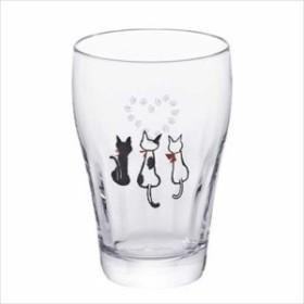 取寄品 足あとグラス グラスコップ ハートタンブラー 3個セット 6471 ギフト石塚硝子