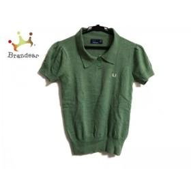 フレッドペリー FRED PERRY 半袖ポロシャツ サイズ36 M レディース ライトグリーン ニット   スペシャル特価 20190514