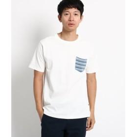 【20%OFF】 ベースステーション ポケット ボーダー 半袖Tシャツ メンズ アイボリー×ライトブルー(104) 02(M) 【BASE STATION】 【タイムセール開催中】