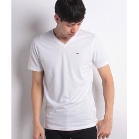 トミーヒルフィガー ベーシックVネックTシャツ メンズ ホワイト S 【TOMMY HILFIGER】