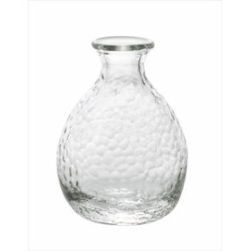取寄品 津軽びいどろ 耐熱ガラス酒器 徳利 中 クリア 日本製石塚硝子