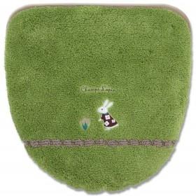 シャンラパン洗浄暖房専用便座カバー 吸着タイプ グリーン 洗浄暖房専用便座カバー 吸着タイプ