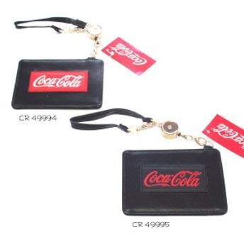 コカ・コーラ パスケース 49994 49995 CocaCola 定期入れ カード ケース クラックス 炭酸飲料 キャラクター グッズ ネコポス可