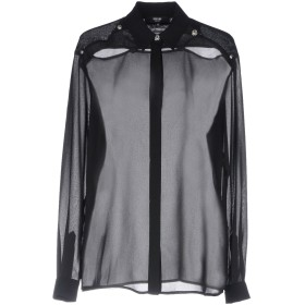 《期間限定セール開催中!》VERSUS VERSACE レディース シャツ ブラック 40 ポリエステル 100%