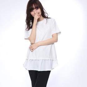 イグニオ IGNIO レディース フェイクレイヤードTシャツ(半袖)