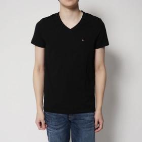 トミーヒルフィガー TOMMY HILFIGER ベーシックVネックTシャツ (ブラック)