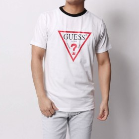ゲス GUESS TRIANGLE LOGO TEE (WHITE)