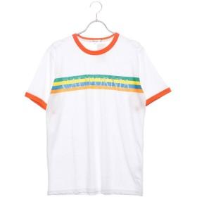 スタイルブロック STYLEBLOCK レインボープリントリンガー半袖Tシャツカットソー (オレンジ)