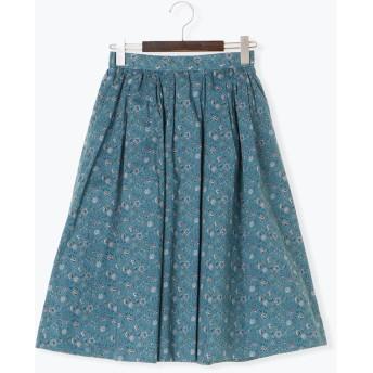 ひざ丈スカート - Te chichi libertyタナローン小花柄スカート