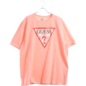 ゲス GUESS Originals S/S CLASSIC TRIANGLE LOGO TEE (PINK)【JAPAN EXCLUSIVE ITEM】