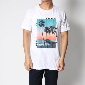 トミーヒルフィガー TOMMY HILFIGER サンライズプリントTシャツ (ホワイト)