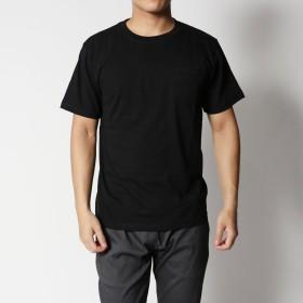 スタイルブロック STYLEBLOCK 綿100%クルーネックポケット付半袖Tシャツ (ブラック)