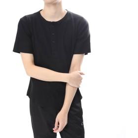 イグニオ IGNIO メンズ ワッフルヘンリーネックTシャツ(半袖)