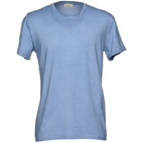 《セール開催中》CASHMERE COMPANY メンズ T シャツ アジュールブルー 52 コットン 100%