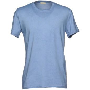 《期間限定セール開催中!》CASHMERE COMPANY メンズ T シャツ アジュールブルー 52 コットン 100%