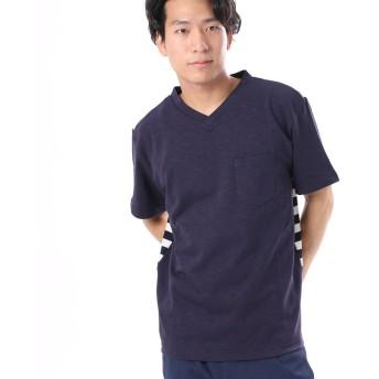 コンフォートインデックス COMFORT INDEX ボーダー切り替えVTシャツ (ブルー)