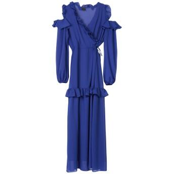 《セール開催中》PINKO レディース ロングワンピース&ドレス ブルー 38 100% ポリエステル