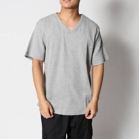 スタイルブロック STYLEBLOCK 吸汗速乾抗菌防臭ワッフルサーマルVネックTシャツ (杢グレー)
