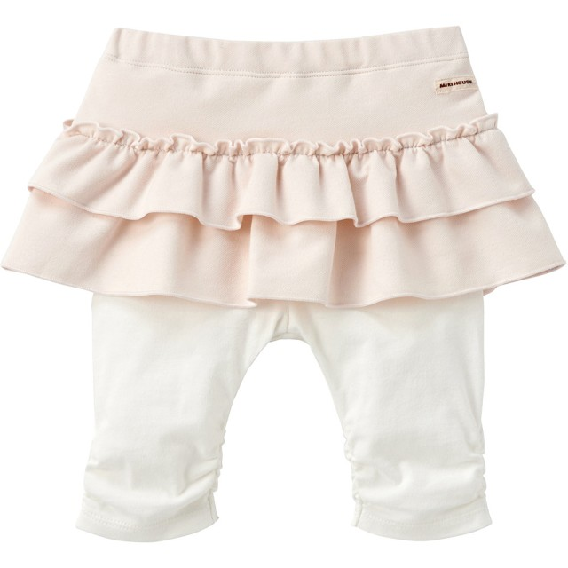 ミキハウス スカート付7分丈パンツ 白