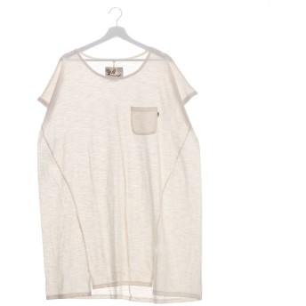 【チャイハネ】yul スラブコットンワンピース / ビッグシルエットTシャツ ホワイト