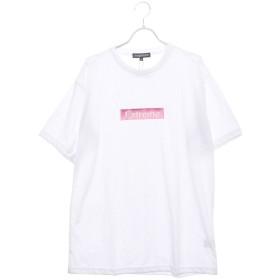 スタイルブロック STYLEBLOCK ビッグシルエットドロップショルダーボックスロゴ胸刺繍半袖Tシャツカットソー (オフホワイトB)