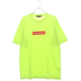 スタイルブロック STYLEBLOCK ビッグシルエットドロップショルダーボックスロゴ胸刺繍半袖Tシャツカットソー (イエロー)