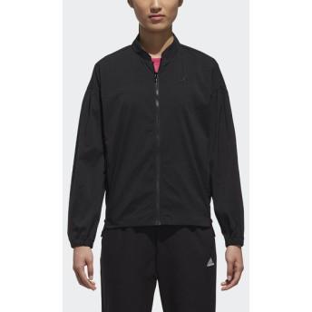 レディーススポーツウェア ウインドアップジャケット W SPORT ID ビッグロゴストレッチタッサージャケット レディース adidas (アディダス) FAT45 DJ2999 ブラック