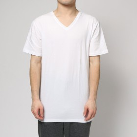 スタジオ バイ ダーバン 半袖V首シャツ (ホワイト)