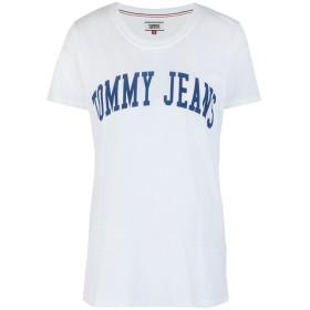《セール開催中》TOMMY JEANS レディース T シャツ ホワイト L コットン 60% / ポリエステル 40%