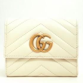 【厳選商品】グッチ 三つ折り財布 GGマーモント 404302・2149 二つ折り財布【中古】