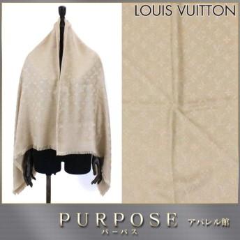 未使用 展示品 ルイ ヴィトン LOUIS VUITTON ショール モノグラム ストール シルク ウール デュンヌ M71360