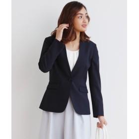 変り織リスピィシリーズ ストレッチ カラーレスジャケット